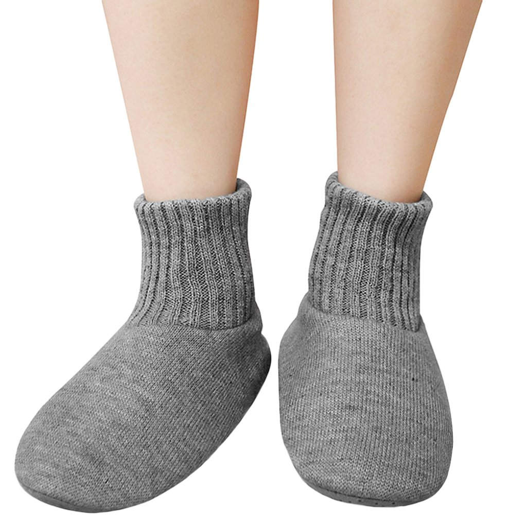 Unisex Classic Slipper Sock with Grippers Womens Girls Winter Warm Cozy Anti-slip Floor Socks Cable Men Lightweight Solid Color Indoor Slippers Ankle Boots Thick Knit Fleece Lined Thermal Sleep Socks