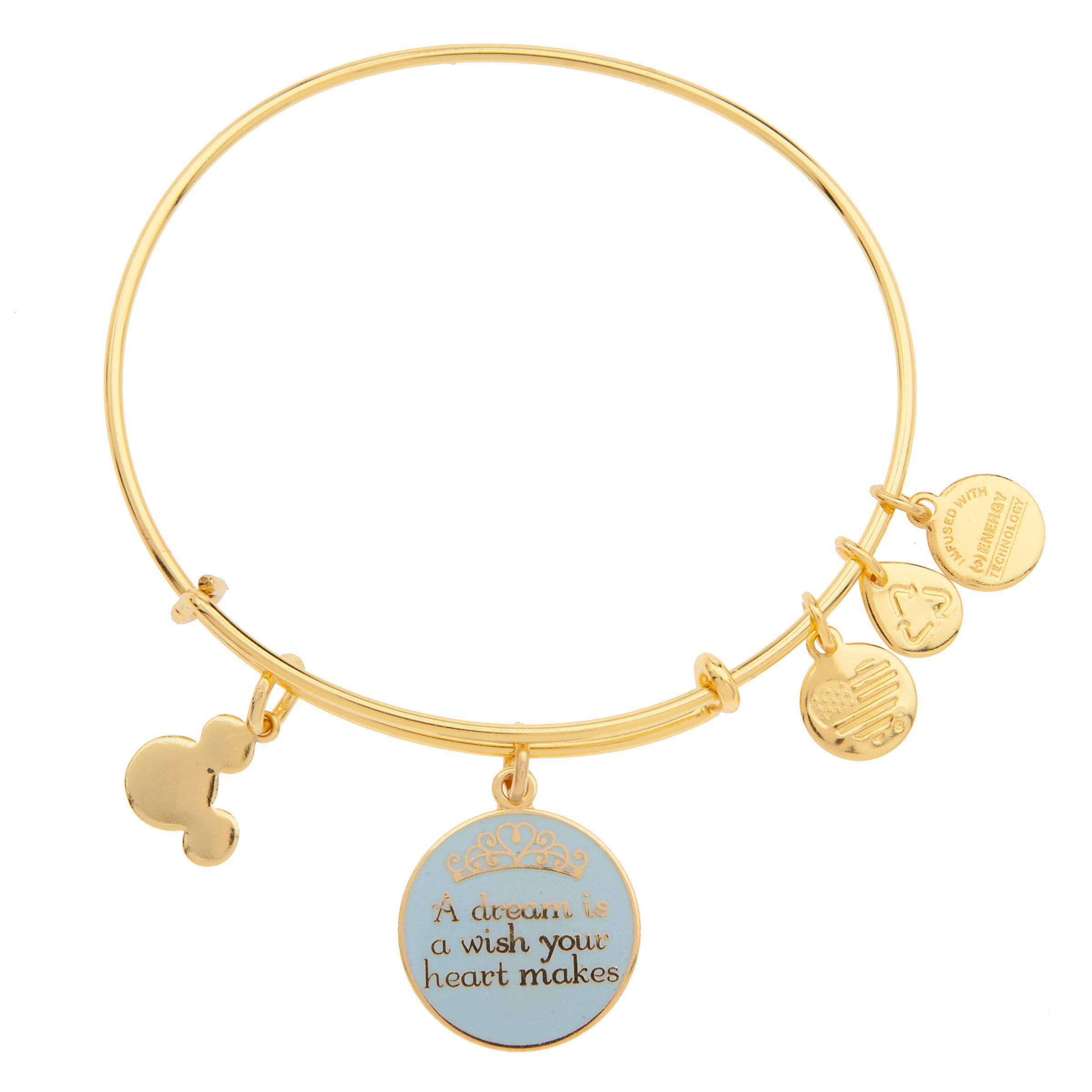 Disney Parks Alex and Ani Dream is a Wish Gold Charm Bangle Bracelet by Alex and Ani (Image #1)