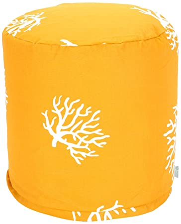 Majestic Home Goods Coral Pouf Small Yellow