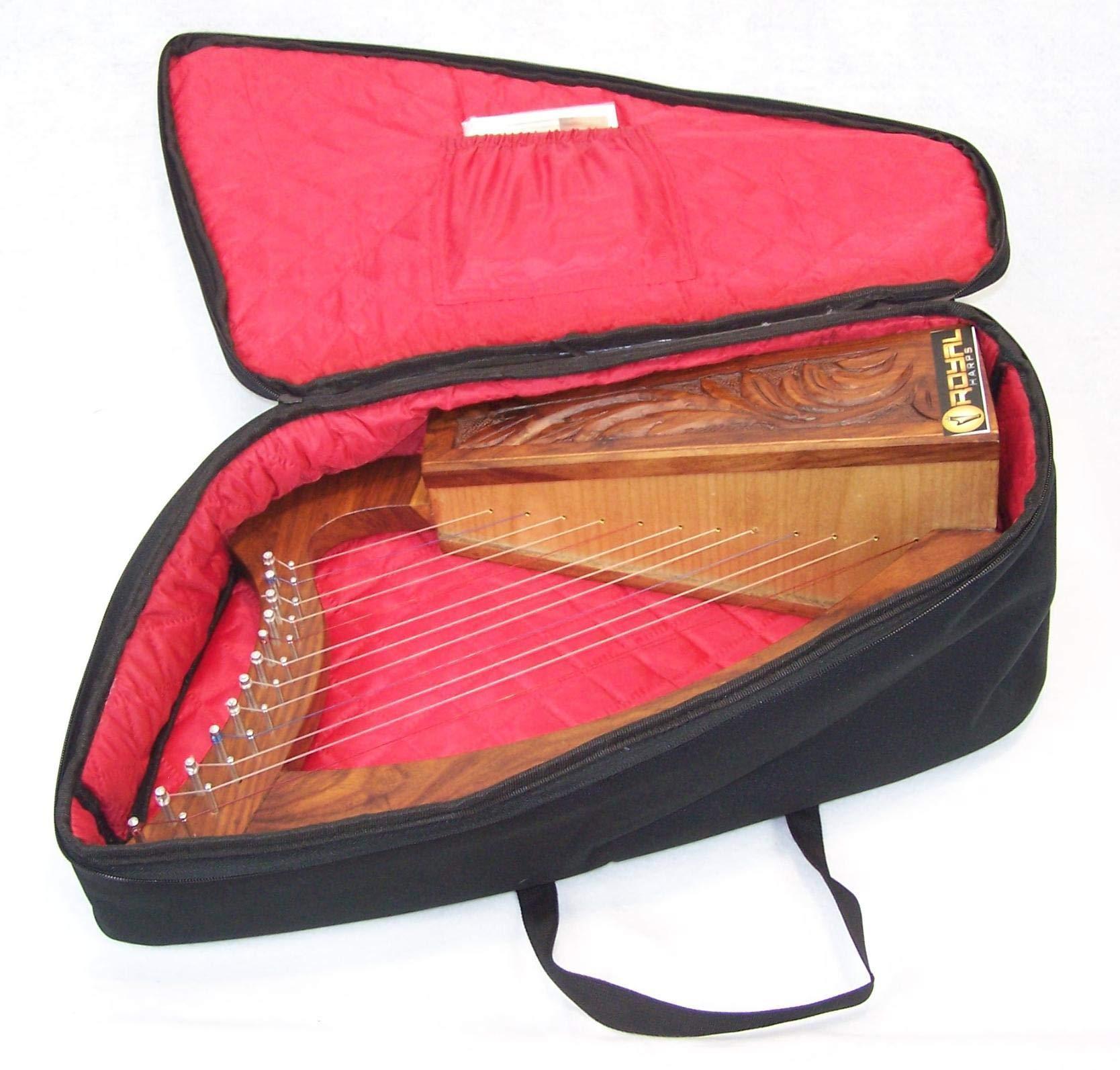 Celtic Irish Baby Harp 12 Strings Solid Wood Free Bag Strings Key by ROYAL HARPS (Image #3)