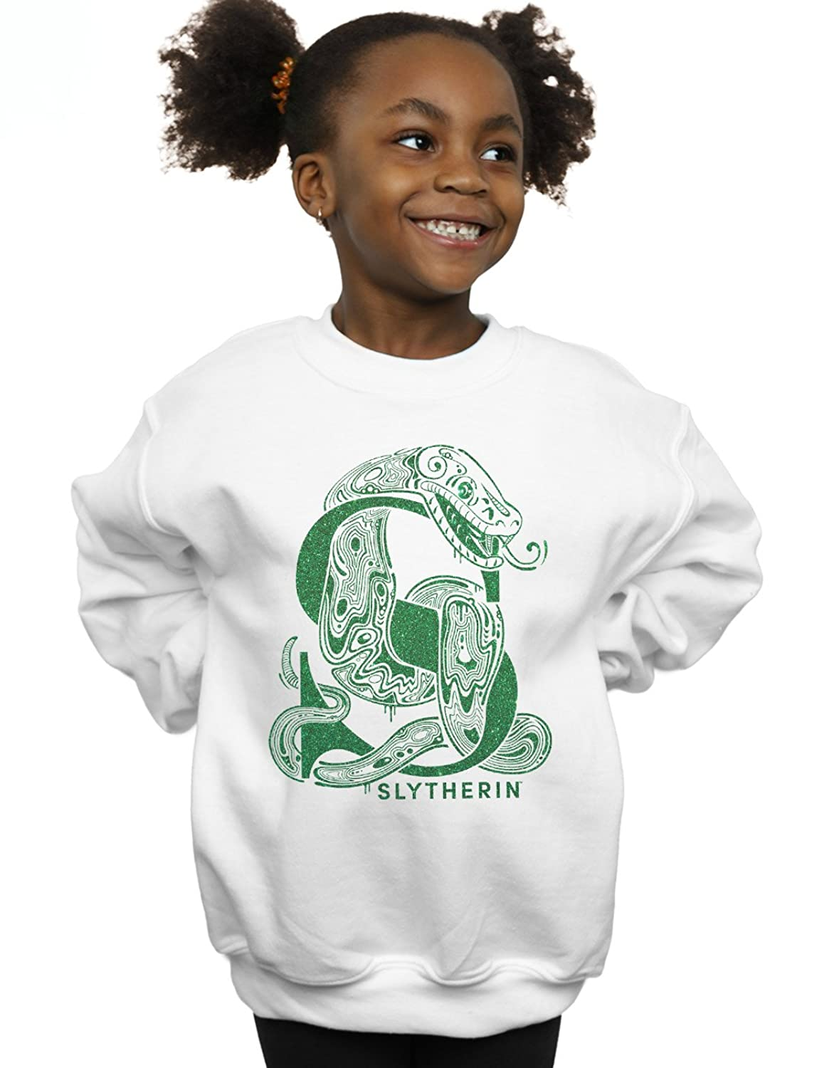 Absolute Cult Harry Potter Fille Slytherin Glitter Sweat-Shirt