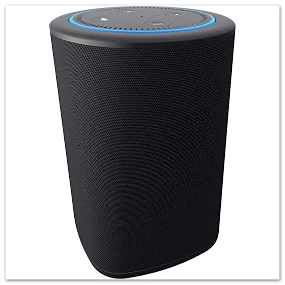Vaux Cordless Home Speaker + Portable Battery For Amazon Echo Dot Gen 2 Black/Carbon by Ninety7 Inc.