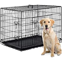 """BestPet 42"""" Pet Folding Dog Cat Crate Cage Kennel w/ABS Tray LC"""