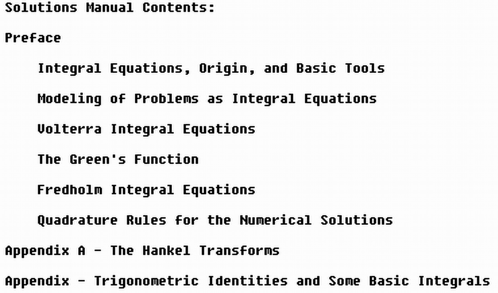 Student's Solutions Manual to Accompany Introduction to Integral Equations  with Applications: With Additional Solved Problems: Abdul J. Jerri: ...