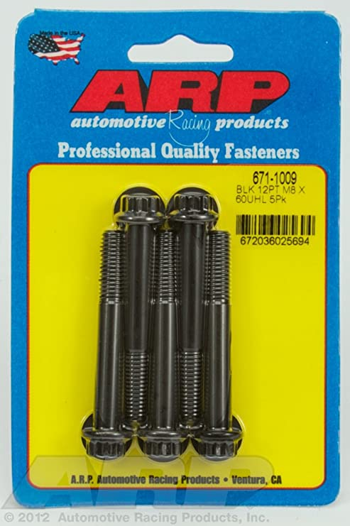 Arp 671-1009 M8 x 1.25 x 60  12pt black oxide bolts