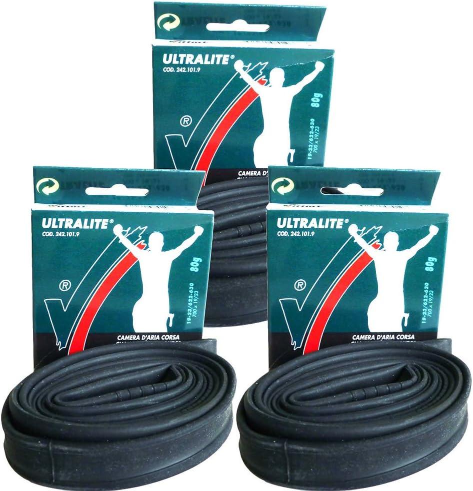 2 x Vittoria Road Bike Ultralite inner tubes 42mm Presta Valve 700 x 19 //23 tube