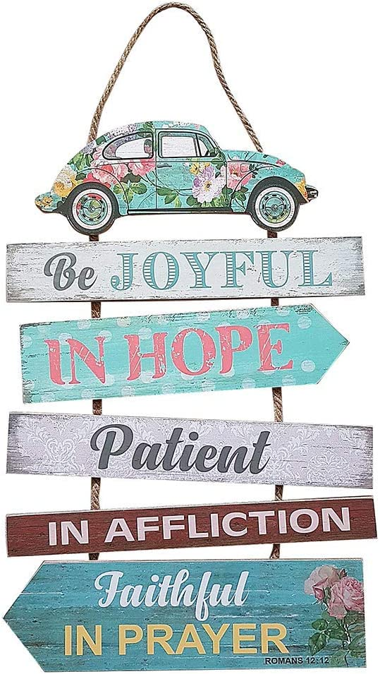 LivingbyFaith Be Joyful in Hope Wall Hanging/ Wall Art/ Wall Decor/ Home Decor/ Housewarming Gifts/ Sympathy Gifts/ Farmhouse Decor/ Rustic Decor