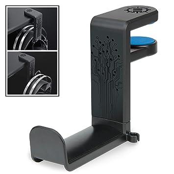 Soporte para Auriculares PC de Mesa Sujeción para Cascos Gaming en ENHANCE Montura Universal con Brazo Ajustable y Rotativo Colocar bajo el Escritorio