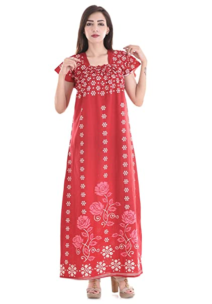 Indian Handprinted Night Gown