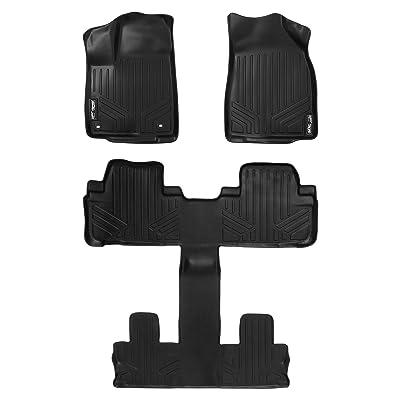 MAXLINER Floor Mats 3 Row Liner Set Black for 2014-2020 Toyota Highlander with 2nd Row Bucket Seats (No Hybrid Models): Automotive