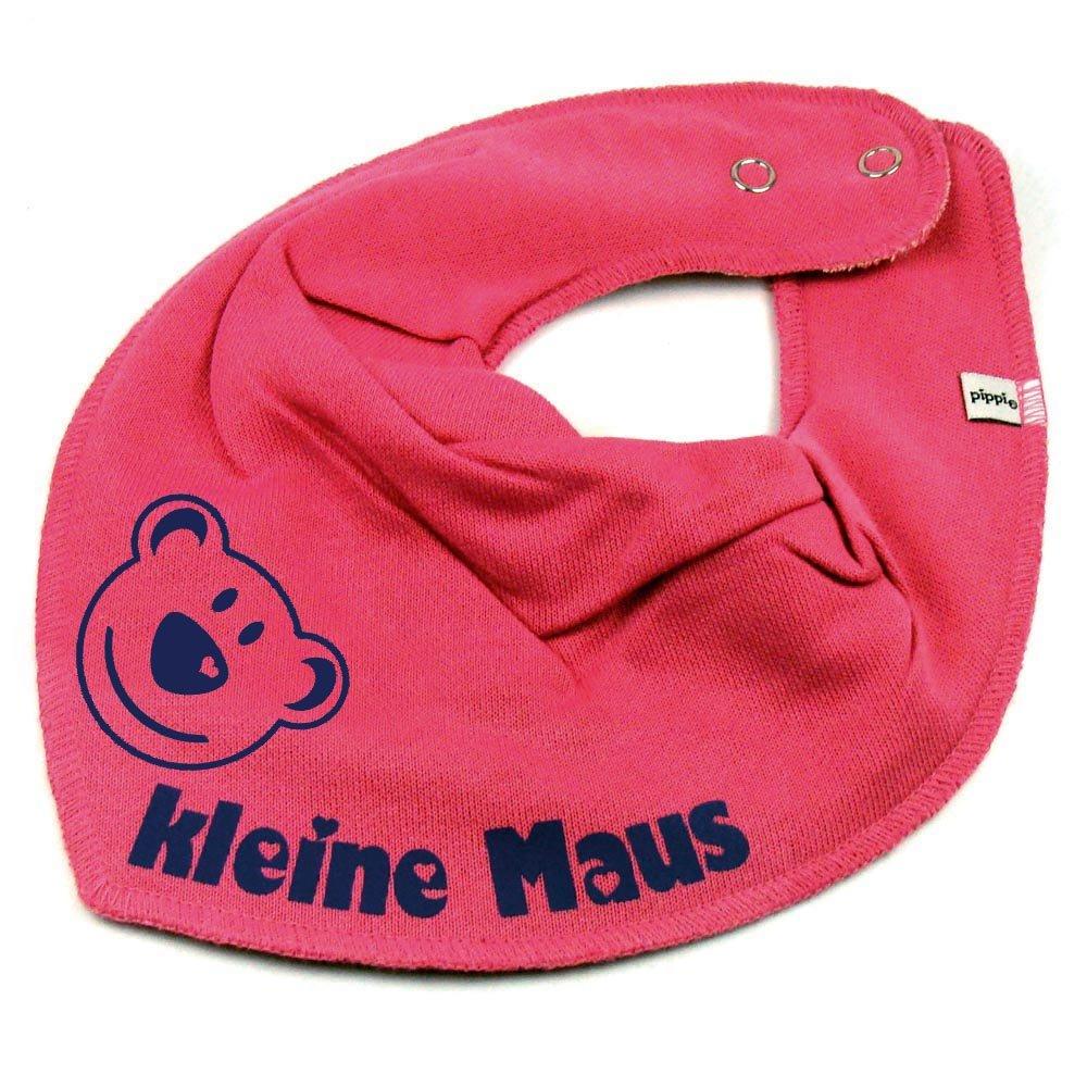 HALSTUCH BÄR mit Namen oder Text personalisiert dunkelblau für Baby oder Kind Elefantasie