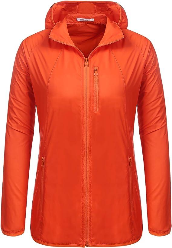 trudge - Chaqueta impermeable para mujer, parka, chaqueta de entretiempo, resistente al agua, cortavientos, exterior, softshell, con bolsillo con capucha