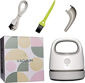 MODERN SOLUTIONS Desktop Vacuum Cleaner with USB Charging & Dual Mode Suction, Mini Vacuum for Dust, Keyboards, Crumbs, Hair, Paper Shavings, Detachable Easy to Clean Design with Nozzle Cleaning Brush