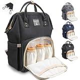 Conleke Diaper Bag Backpack for Baby Care Black, Multi-Functional Waterproof Travel Backpack Nappy Tote Bags Large…