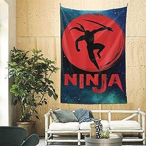Ninja in Training - Cool Ninja Warrior Tapestry Wall Hanging Tapestry for Room 9060inch