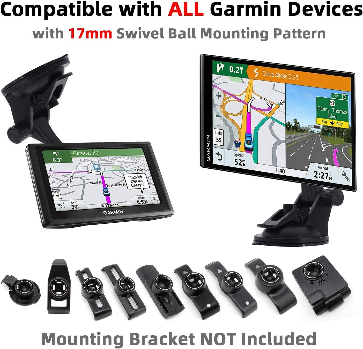 iSaddle CH-159 Adjustable Suction Cup Mount Holder for Garmin GPS Nuvi Series