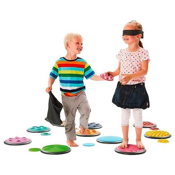 10-tlg. Tastspiel Taktile Scheiben Komplett-Set 1 Sinnestrainer Fühlspiel