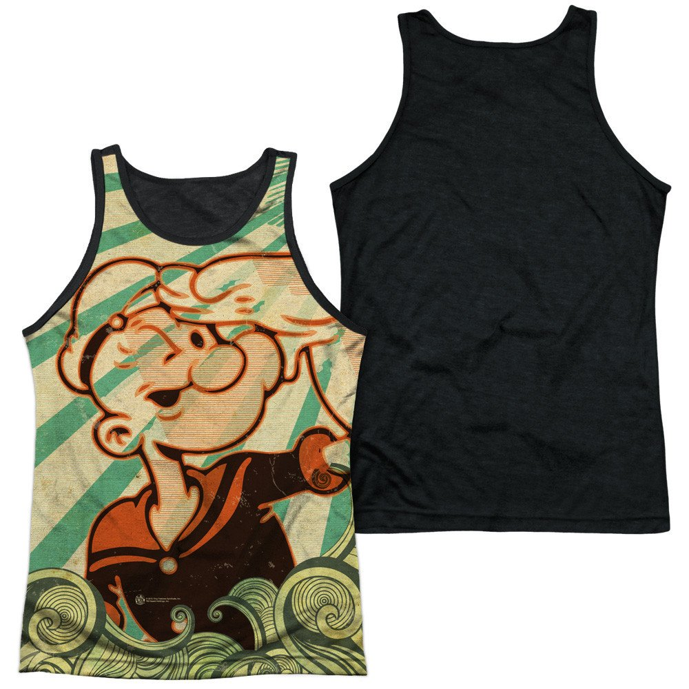 Popeye Traveling Man Adult Tank Top