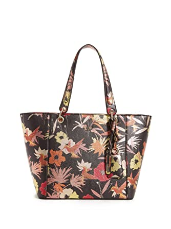 f44774520 Amazon.com: GUESS Kamryn Floral Tote, Black: Clothing