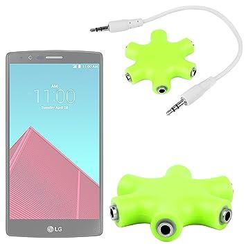 DURAGADGET Divisor De Auriculares Verde para Smartphone Meizu M2 ...