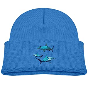 Blue Hammerhead Shark Soft Beanie Caps 0-3 Old Baby Girl Toddler Knitted Hats