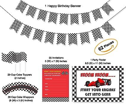 amazon com car party theme checkered flags party supplies