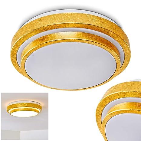 Lámpara de techo LED de diseño - dorada - Sora - para baño ...