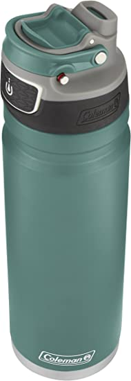 40oz//1200mL Coleman FreeFlow Stainless Steel Slate /& Black Insulated Bottles