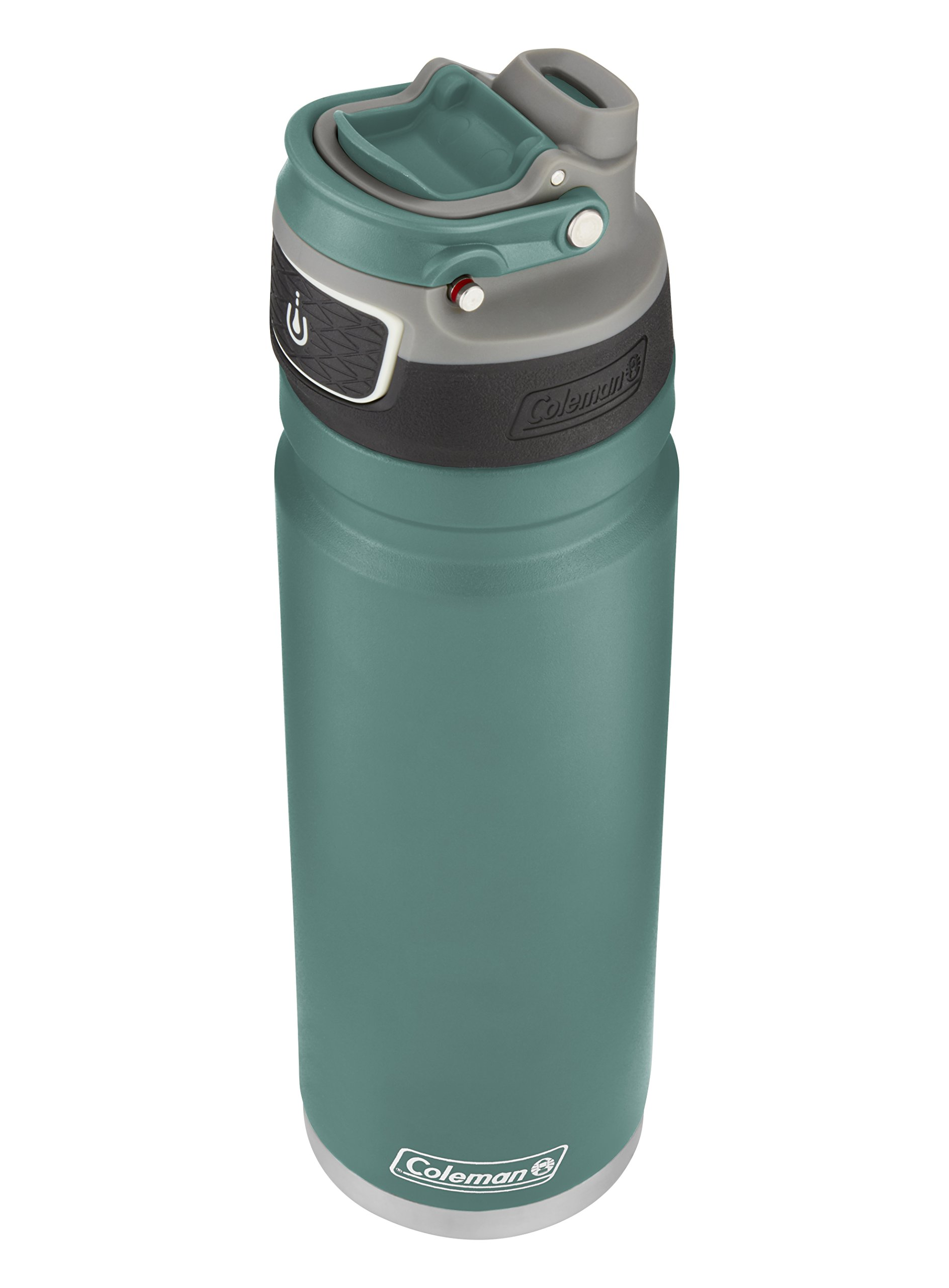 Coleman FreeFlow AUTOSEAL Insulated Stainless Steel Water Bottle, Seafoam, 24 oz.