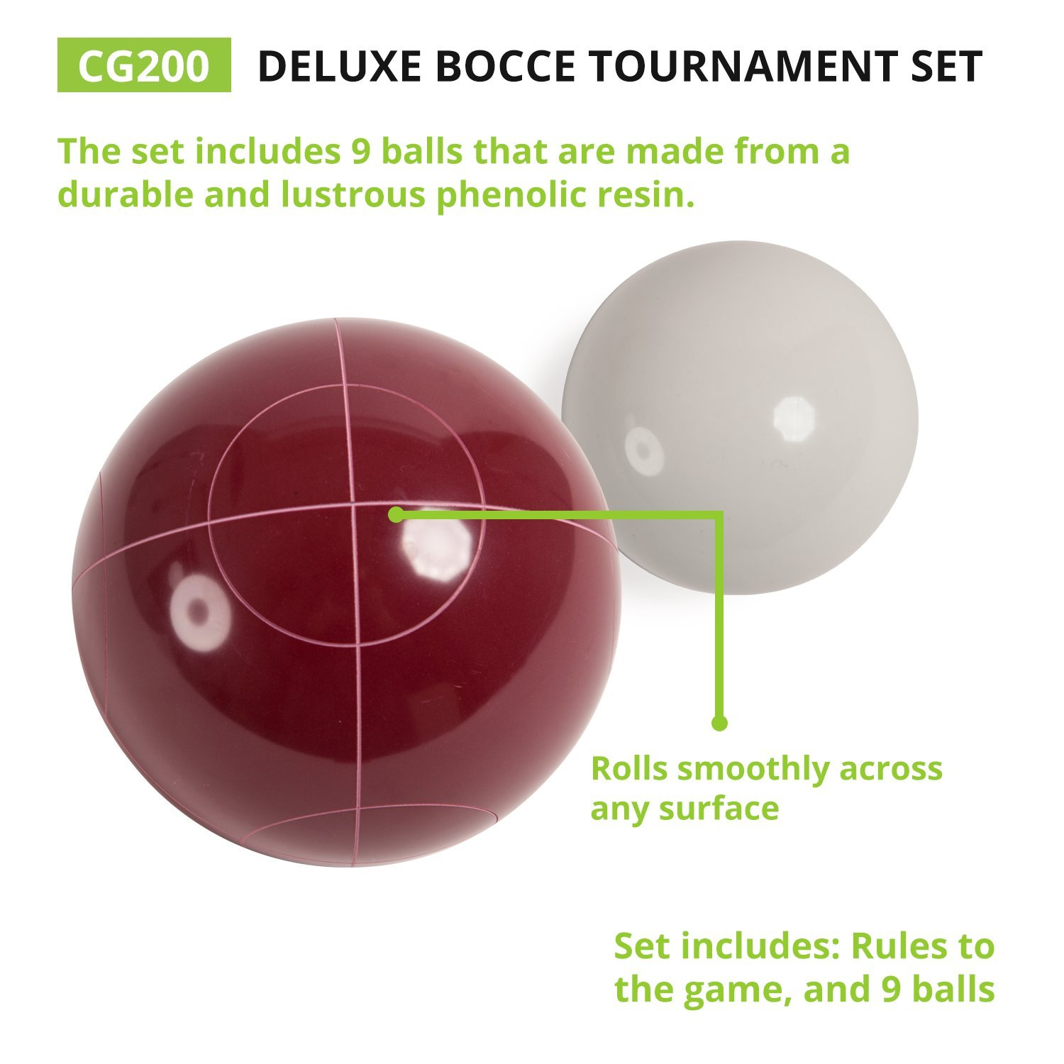 71XN5SMMHeL._SL1500_ amazon com champion sports bocce ball set tournament series