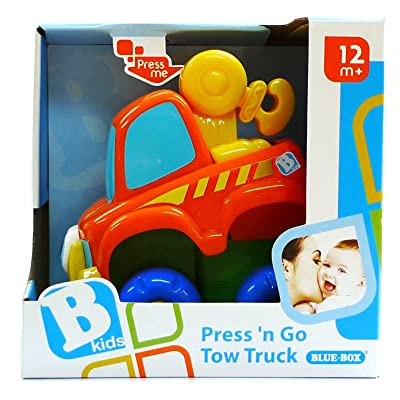B kids Press 'N Go Tow Truck (Discontinued by Manufacturer) : Push And Pull Baby Toys : Baby