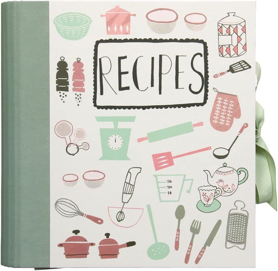 Recipe File With Kitchen Utensils Motif Amazon De Bürobedarf Schreibwaren