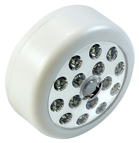 Sensor de movimiento, luz blanca con sensor de luz, luz LED súper brillante para