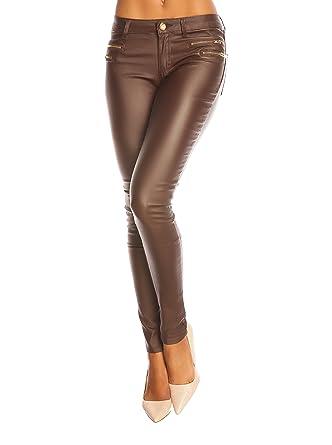 b72d715996411 ETERNALLY Pantalon - Femme Marron chocolat XL: Amazon.fr: Vêtements ...