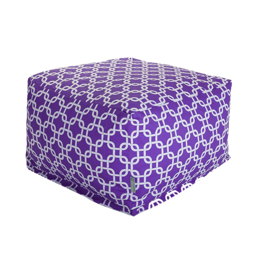 Majestic Home Goods Ottoman, Large, Purple Links