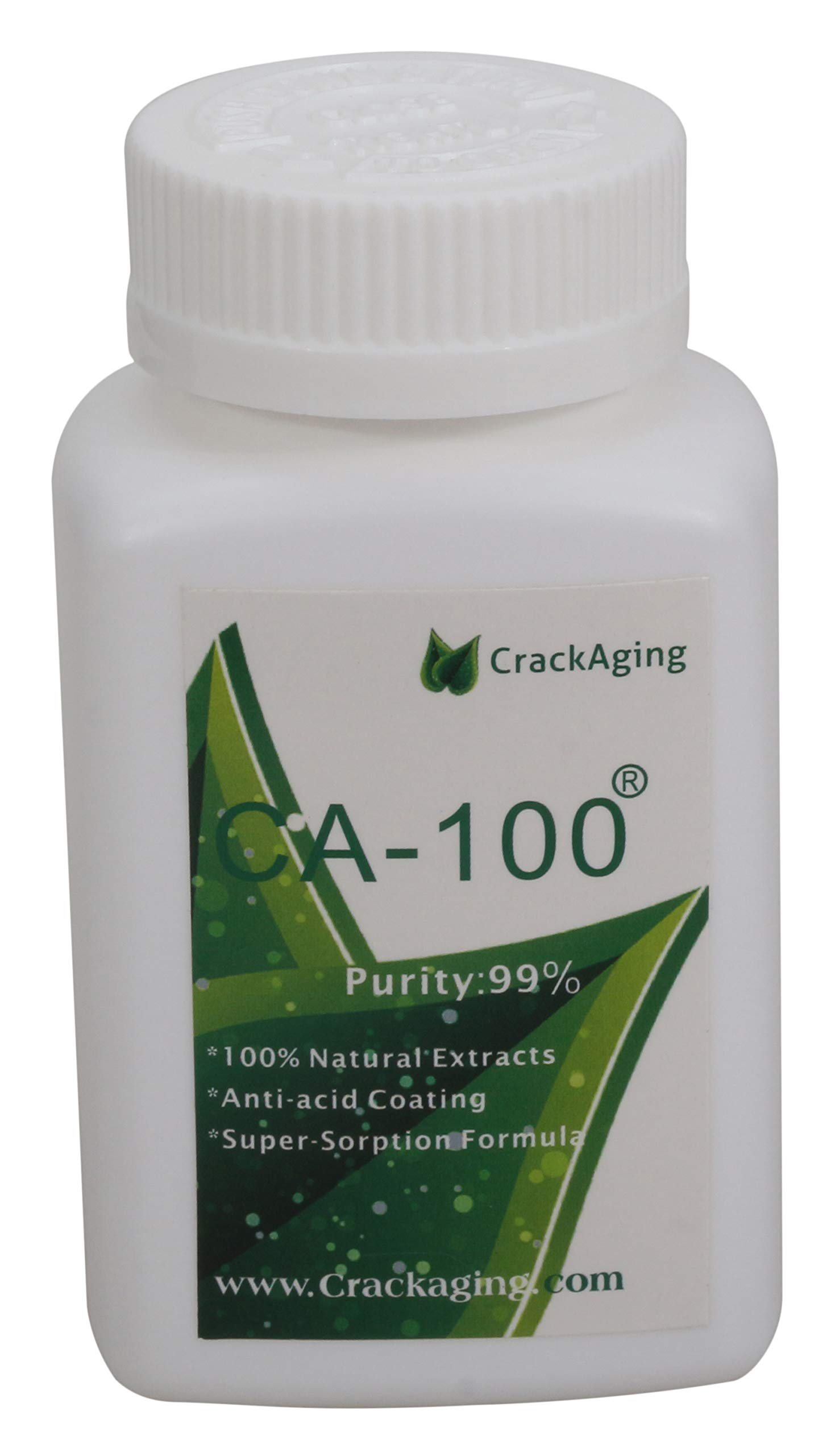 CrackAging CA-100® - 100% Natural Super-Absorption Cycloastragenol (25mg/cap 30 caps/bottle)