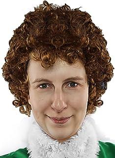 Amazon.com: Buddy la Elf peluca disfraz accesorio: Clothing