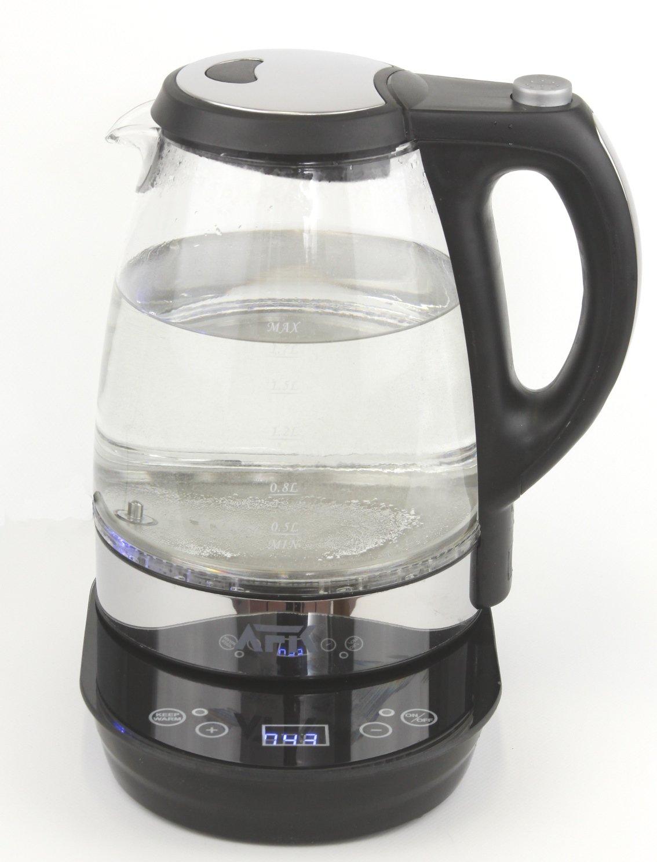1,7L 2200 Watt Glas Wasserkocher Temperaturwahl Teekocher mit LED 360° Touch AFK