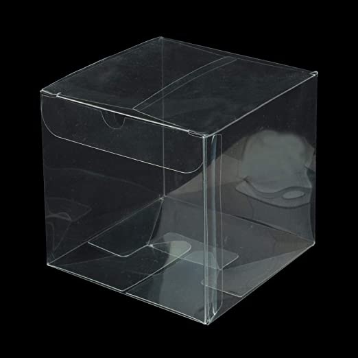 vlovelife - Cajas para Dulces de PVC Transparente, 2 Cajas de Regalo cuadradas de 5 x 5 cm, Cajas de Regalo de plástico para Bodas, cumpleaños, Navidad, Fiestas de bebé, Regalos: Amazon.es: Hogar