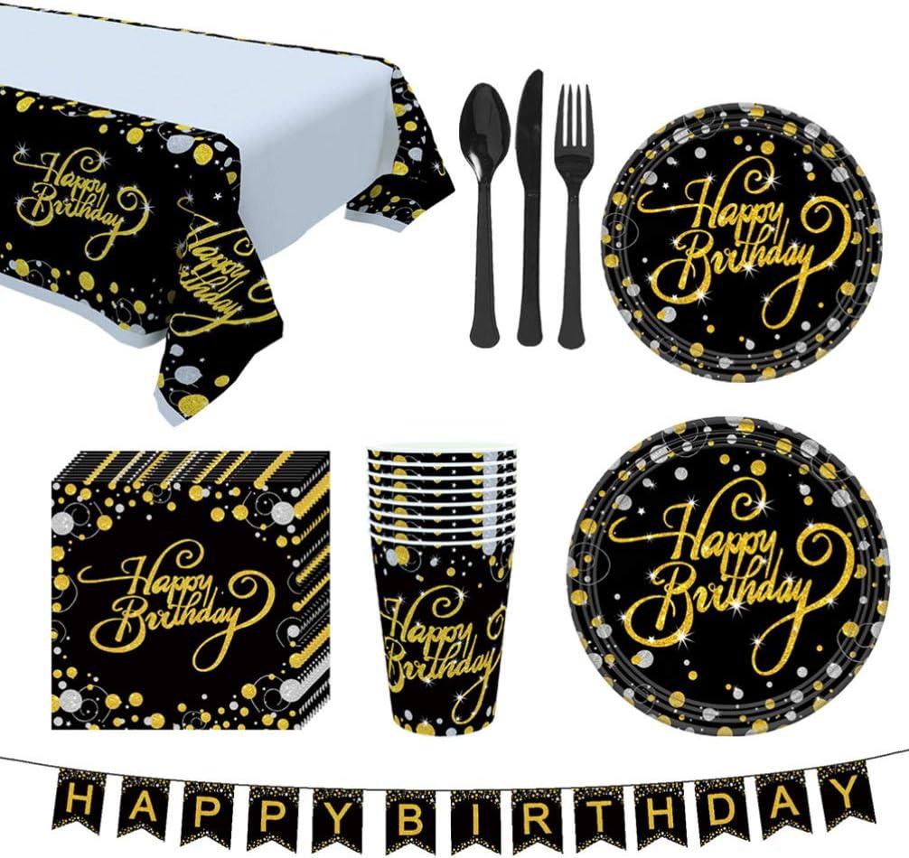 Amosfun 114 piezas feliz cumpleaños bunting banner juego de ...