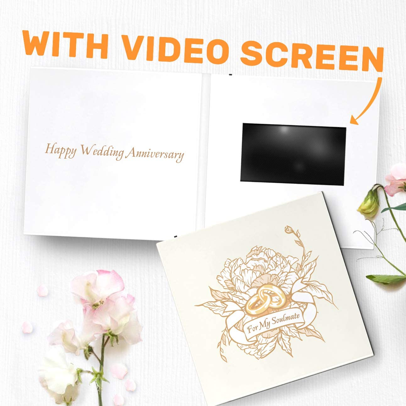 Amazon.com: Special Wedding Anniversary Card with Video, Custom