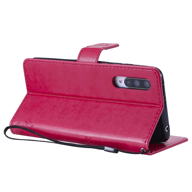 NEXCURIO Funda Xiaomi Mi 9 Lite CC9 NEKTU080757 Rosa Funda Piel Tipo Libro Carcasa Cartera Cuero Funci/ón de Soporte Magn/ética Cerrada para Xiaomi Mi 9 Lite