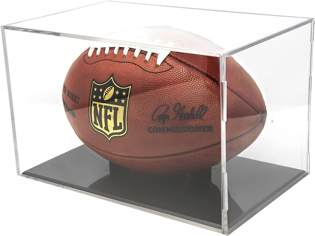 BallQube UV Grandstand Football Display Black Base