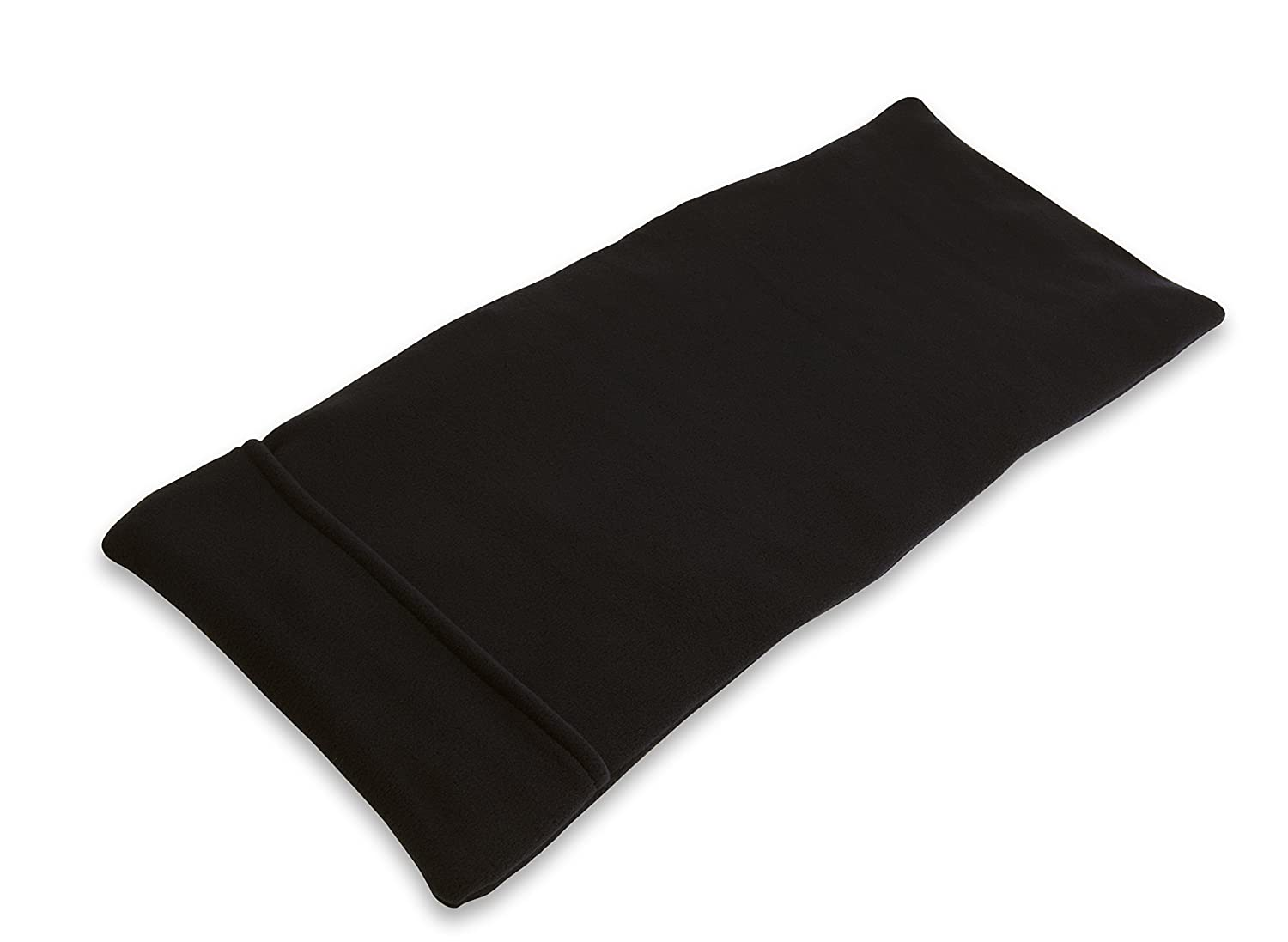 "Sunny Bay XL Body Heating Pad 10.5"" x 24"", Whole Wheat Filled, Washable Cover, Heat Therapy Pad for Sore Neck, Back & Shoulder Muscle Pain Relief – Reusable, Non-Electric Heat or Cold Compress, Black"