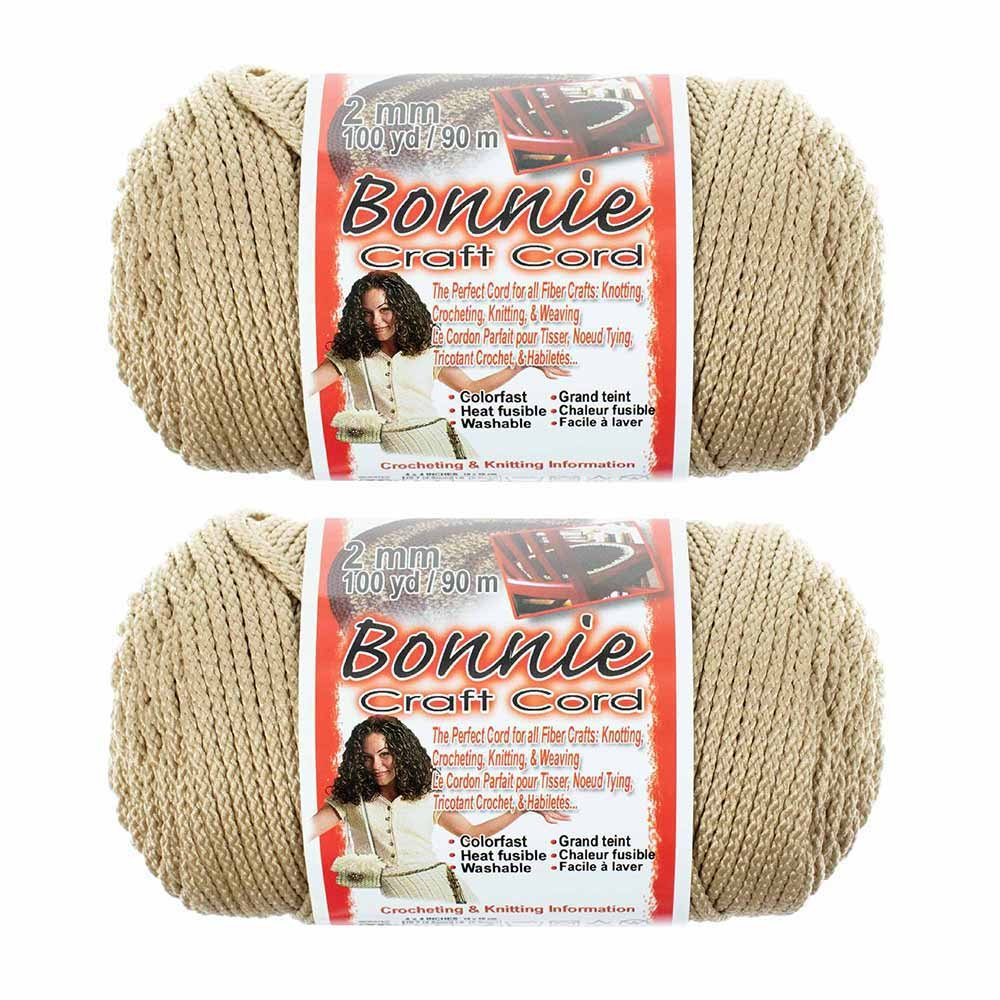 Craft County Bonnie Cord – 2MM – 2 Pack – Available in a Variety of Colors
