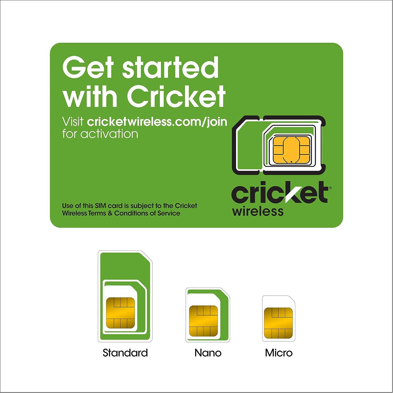 Cricket Wireless Prepaid Universal SIM Card Kit