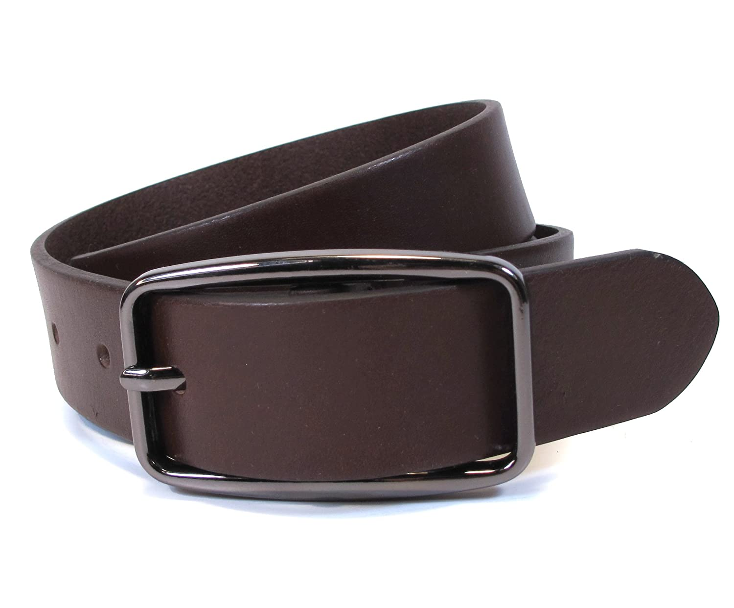 "(AF1-127) Women Belt 100% Real Leather Black, Brown, White Size 28~36"" Wide 1.1"""