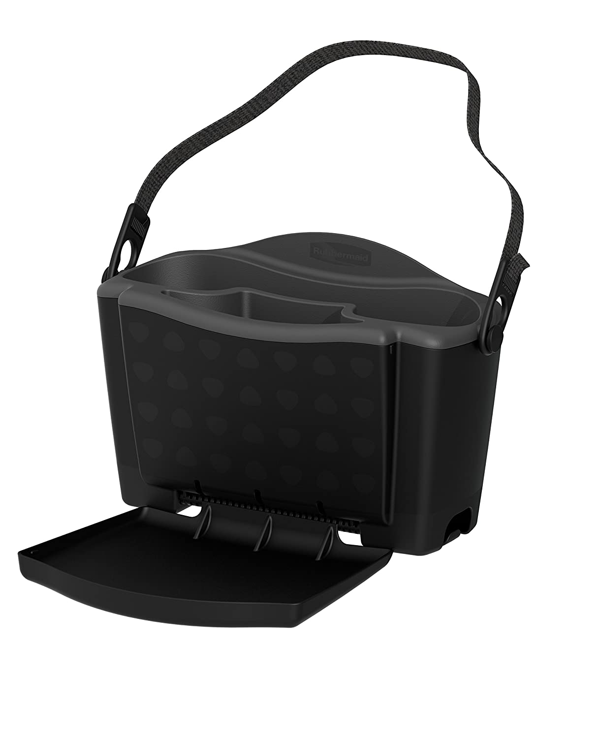 Rubbermaid 3318-20 Automotive Back Seat Organizer/Hanging Car Caddy with Folding Tray Table and Cup Holders