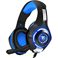 BlueFire Stereo Gaming Headset for Playstation 4 PS4, Over-Ear Headphones with Mic and LED Lights for Xbox One, PC…