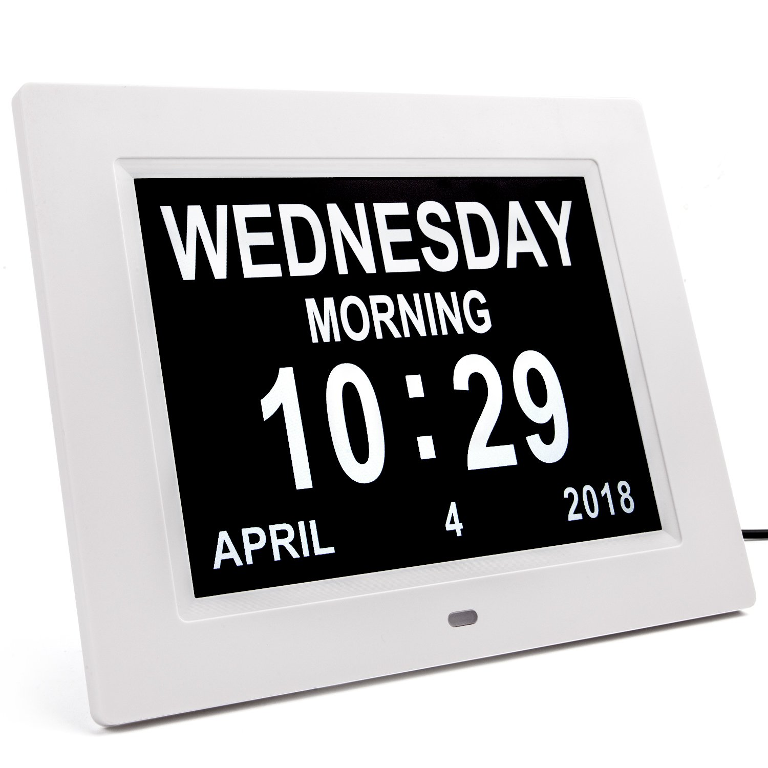 Digital Dementia Clock 2018 Calendar Clock Day Date Clock Large Display,Vobot Day Clock 8'' High Resolution Calendar Clock Eyes-care Digital Alarm Clock Bedside Suports SD Card,Day&Night Brightness Adjustable,8 Languages,3 Medication Reminders,5 Daily
